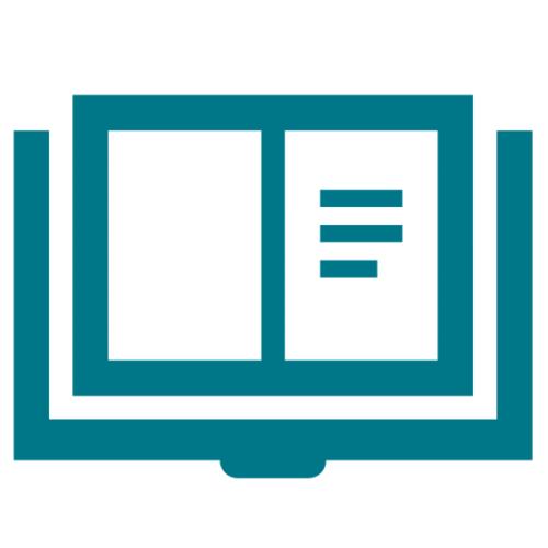 ikon läs/bok